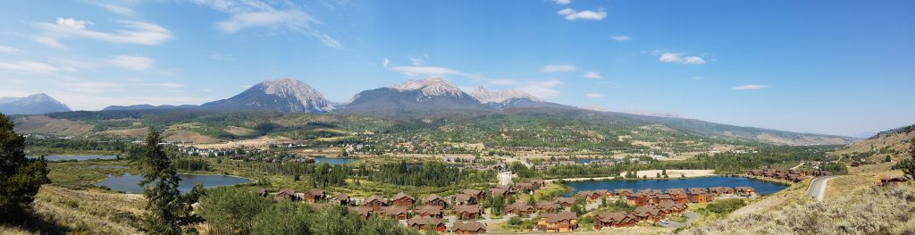 View from above Angler Mountain Ranch Lakeside Townhomes, Silverthorne, CO